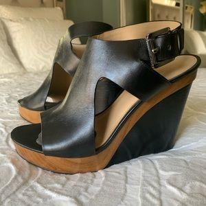 Michael Kohr's Josephine Leather Wedges